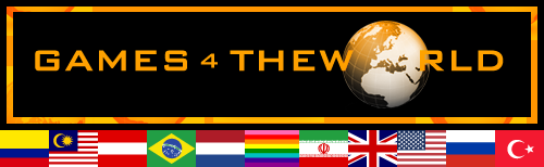Games4theworld logo with country flags